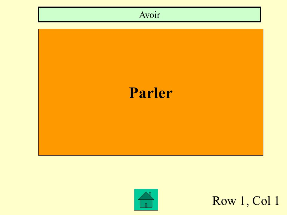 Row 1, Col 1 Parler Avoir