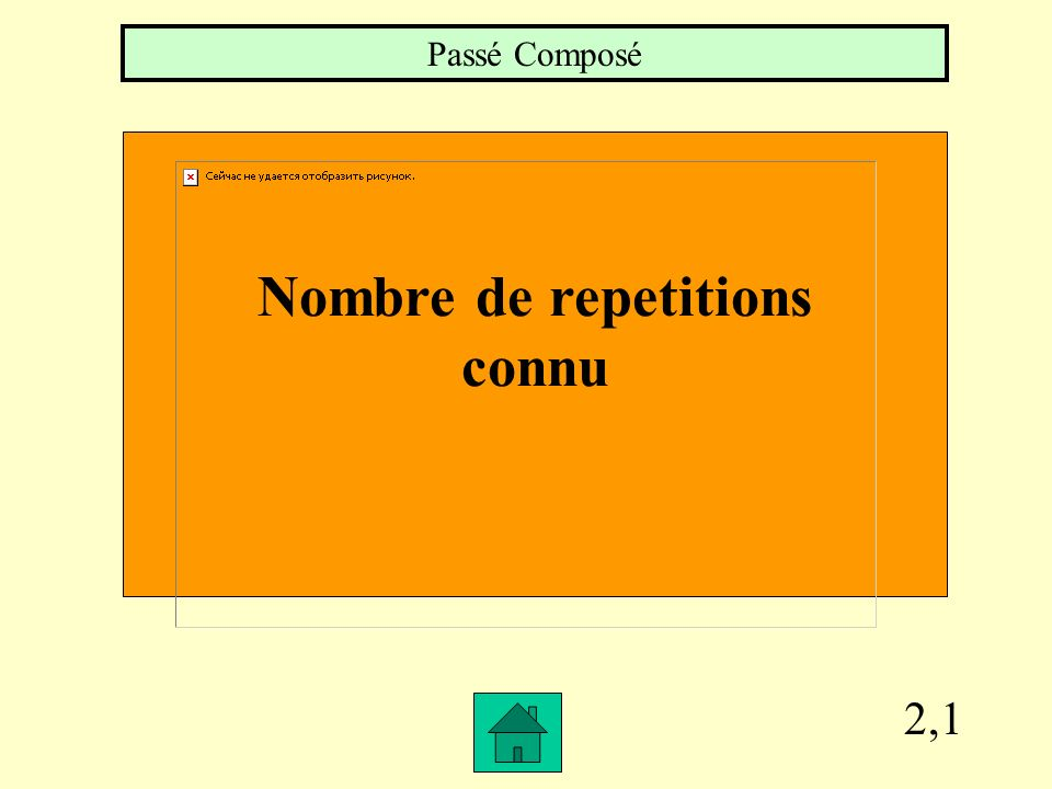 2,1 Nombre de repetitions connu Passé Composé
