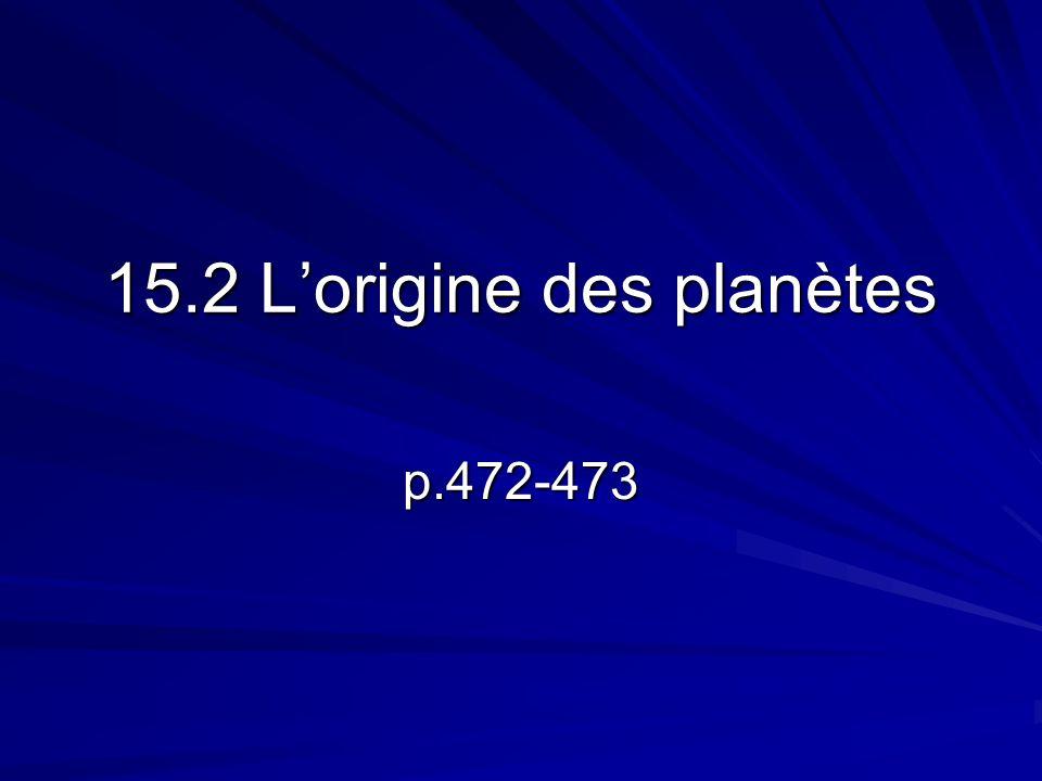 À lorigine, notre système solaire faisait partie dune nébuleuse qui comprenait surtout de lhydrogène et de lhélium.