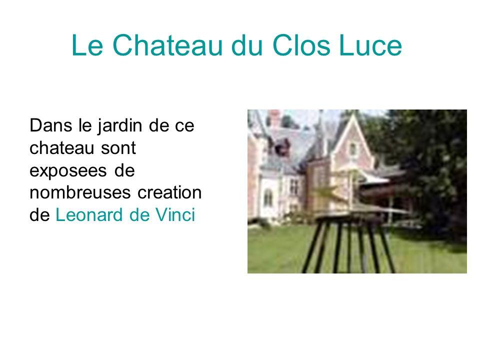 Le Chateau du Clos Luce Dans le jardin de ce chateau sont exposees de nombreuses creation de Leonard de Vinci