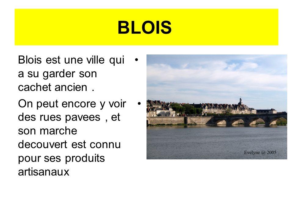 BLOIS Blois est une ville qui a su garder son cachet ancien. On peut encore y voir des rues pavees, et son marche decouvert est connu pour ses produit