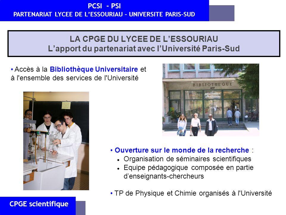 Accès à la Bibliothèque Universitaire et à l'ensemble des services de l'Université Ouverture sur le monde de la recherche : Organisation de séminaires