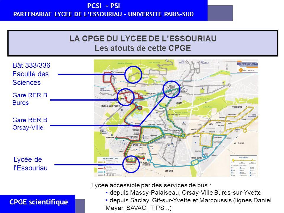 CPGE scientifique PCSI - PSI PARTENARIAT LYCEE DE LESSOURIAU – UNIVERSITE PARIS-SUD III.