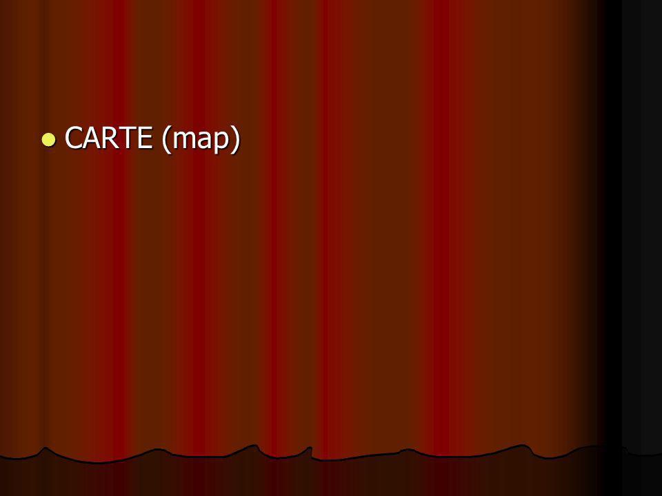 CARTE (map) CARTE (map)
