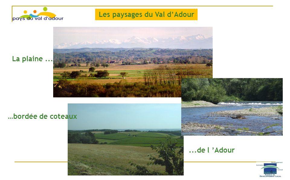 La plaine... …bordée de coteaux...de l Adour Les paysages du Val dAdour 6
