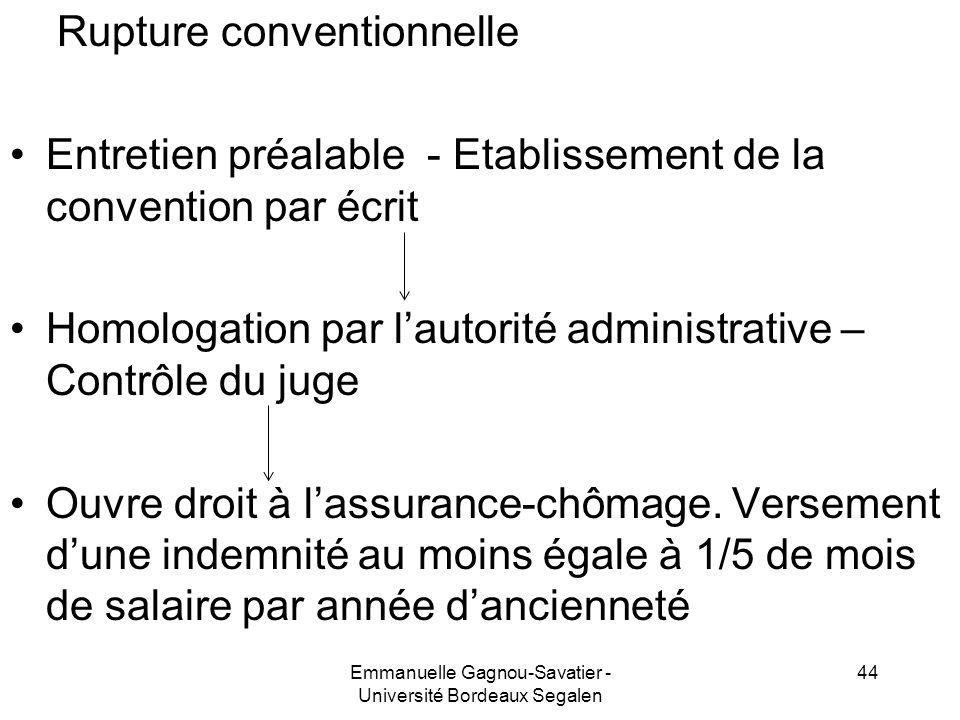 Rupture conventionnelle Entretien préalable - Etablissement de la convention par écrit Homologation par lautorité administrative – Contrôle du juge Ou