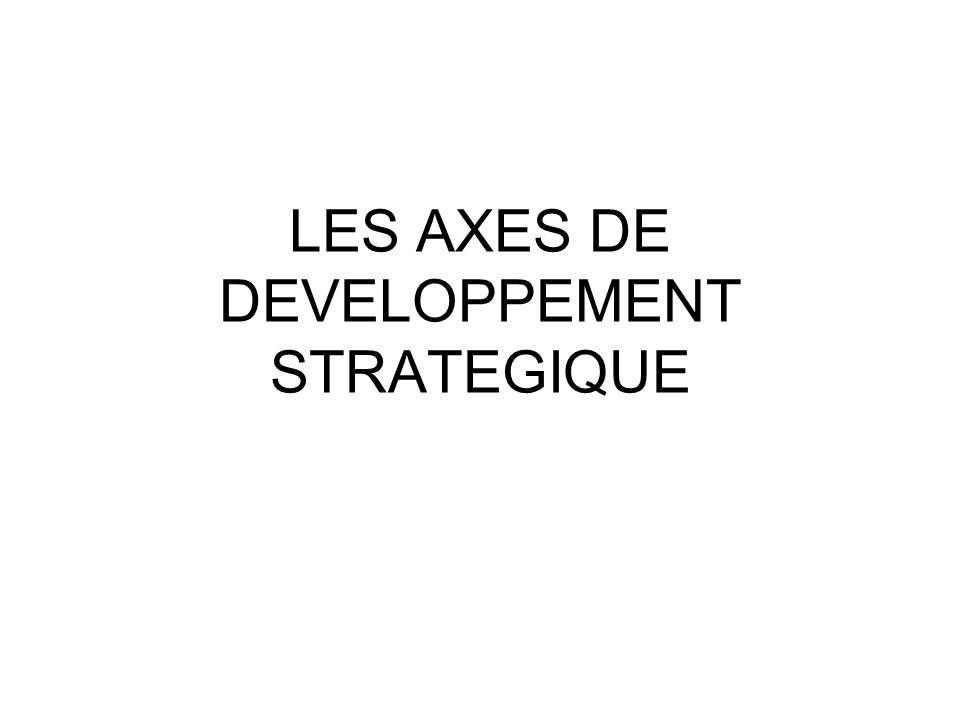 Les axes de développement stratégique La spécialisation La diversification