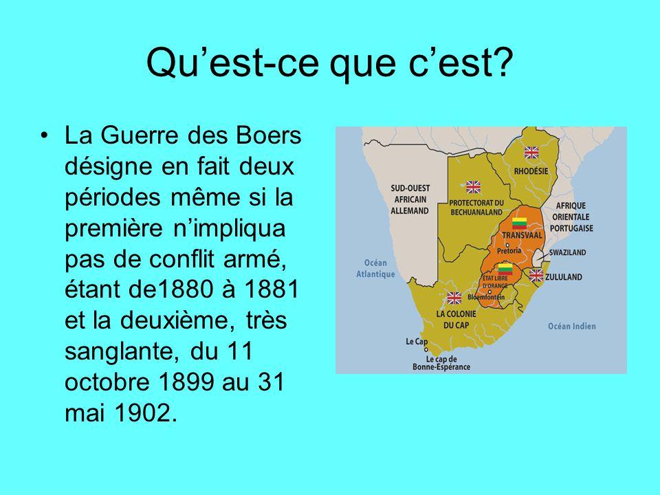 Le conflit .Le conflit était entre les Britanniques et les Boers du Transvaal en Afrique du Sud.
