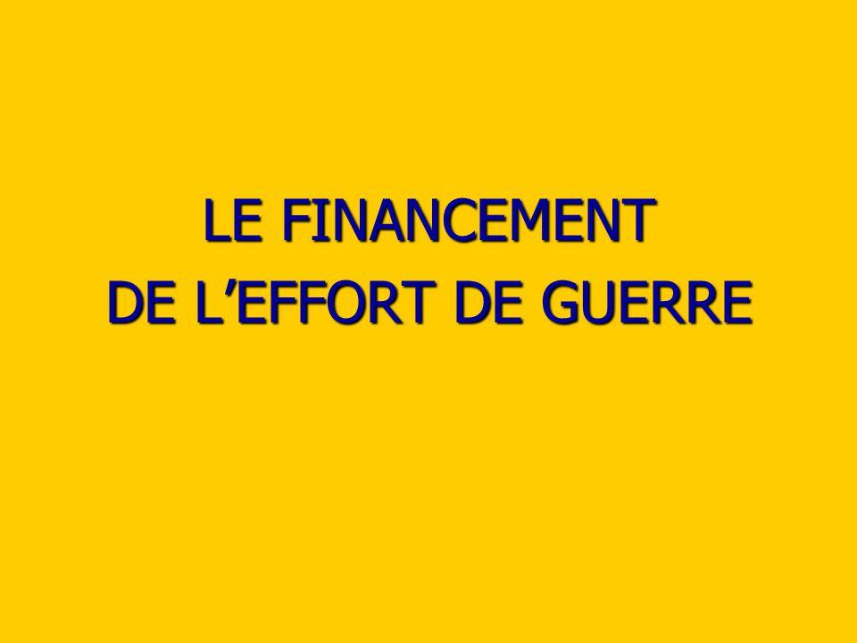 LE FINANCEMENT DE LEFFORT DE GUERRE