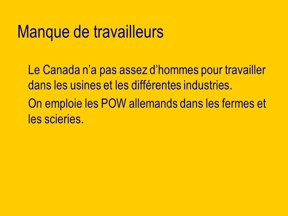 Manque de travailleurs Le Canada na pas assez dhommes pour travailler dans les usines et les différentes industries.