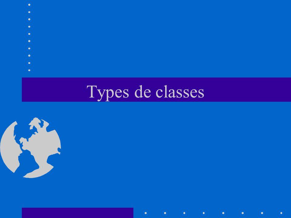 Types de classes