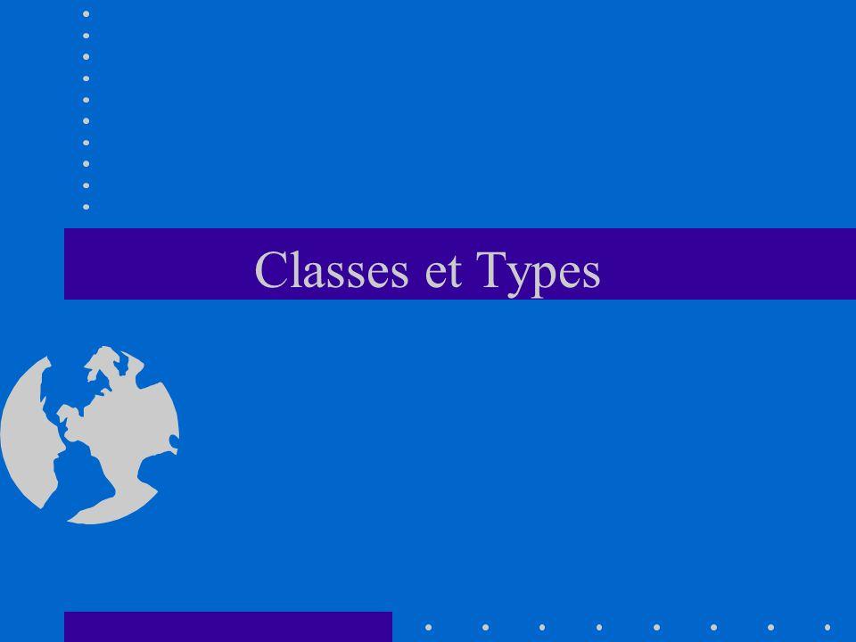 Classes et Types
