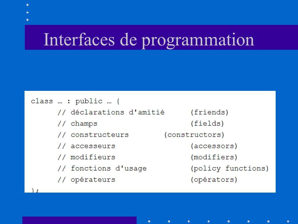 Interfaces de programmation