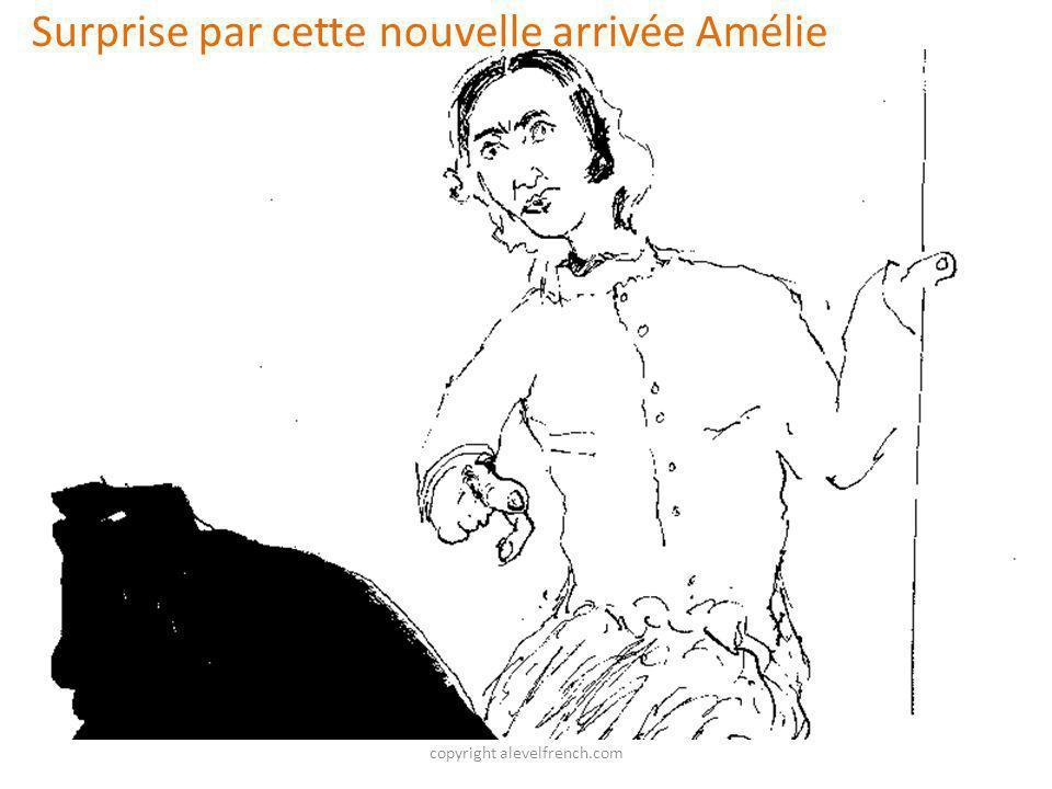 copyright alevelfrench.com Surprise par cette nouvelle arrivée Amélie