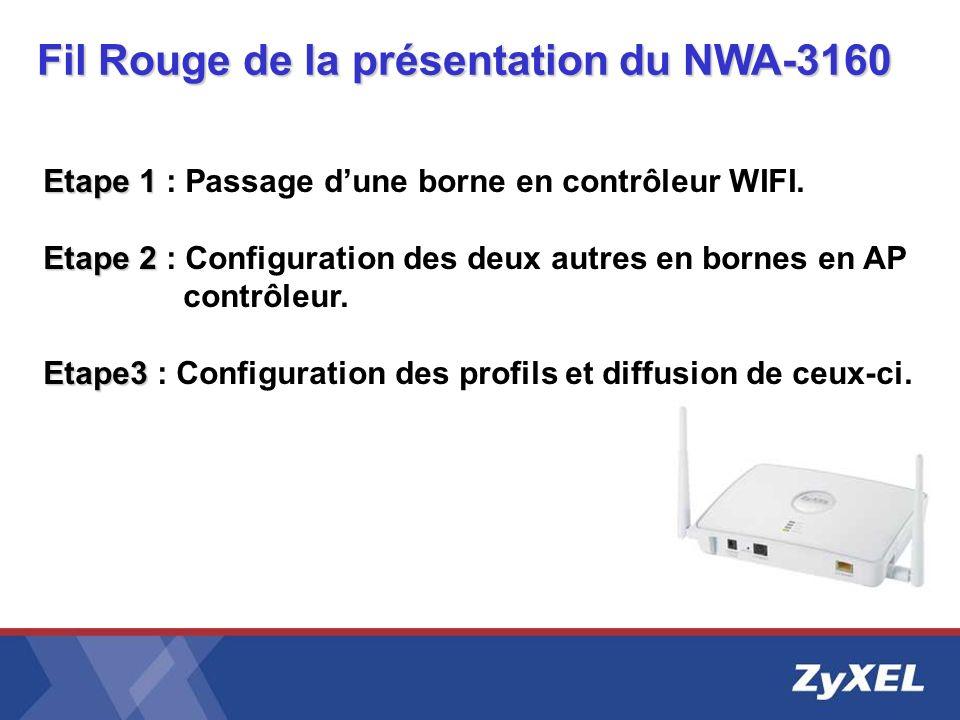 Etape 1 Etape 1 : Passage dune borne en contrôleur WIFI. Etape 2 Etape 2 : Configuration des deux autres en bornes en AP contrôleur. Etape3 Etape3 : C