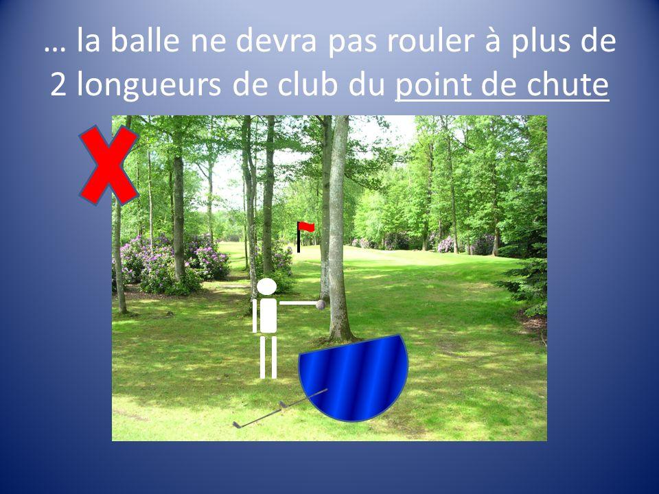 :il se droppe sur laxe drapeau/balle sans se rapprocher du trou + 1 coup de pénalité N°2 N°2 + 1 coup