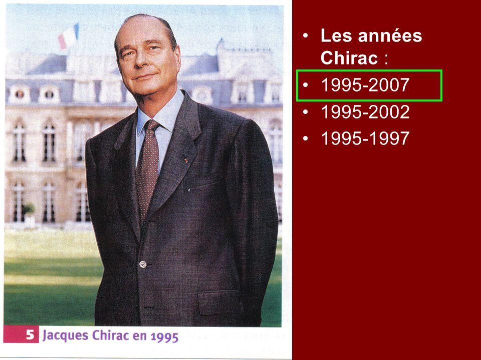 Les années Chirac : 1995-2007 1995-2002 1995-1997