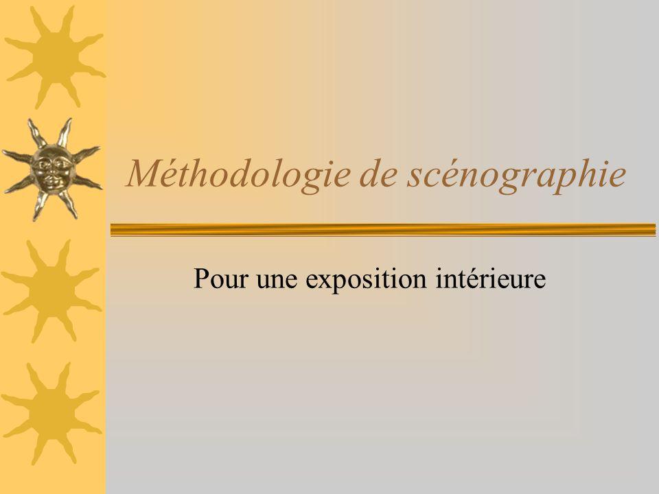 Méthodologie de scénographie Pour une exposition intérieure