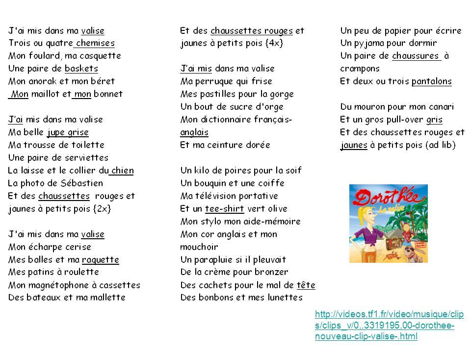 http://videos.tf1.fr/video/musique/clip s/clips_v/0,,3319195,00-dorothee- nouveau-clip-valise-.html