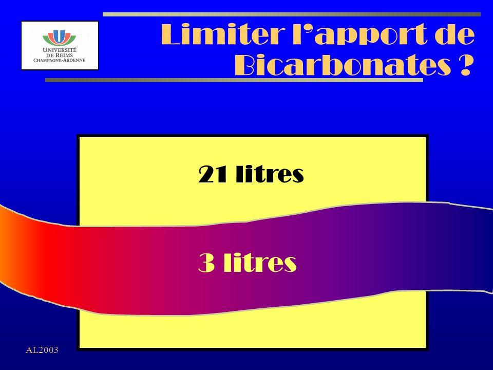 AL2003 Limiter lapport de Bicarbonates ? 3 litres 21 litres