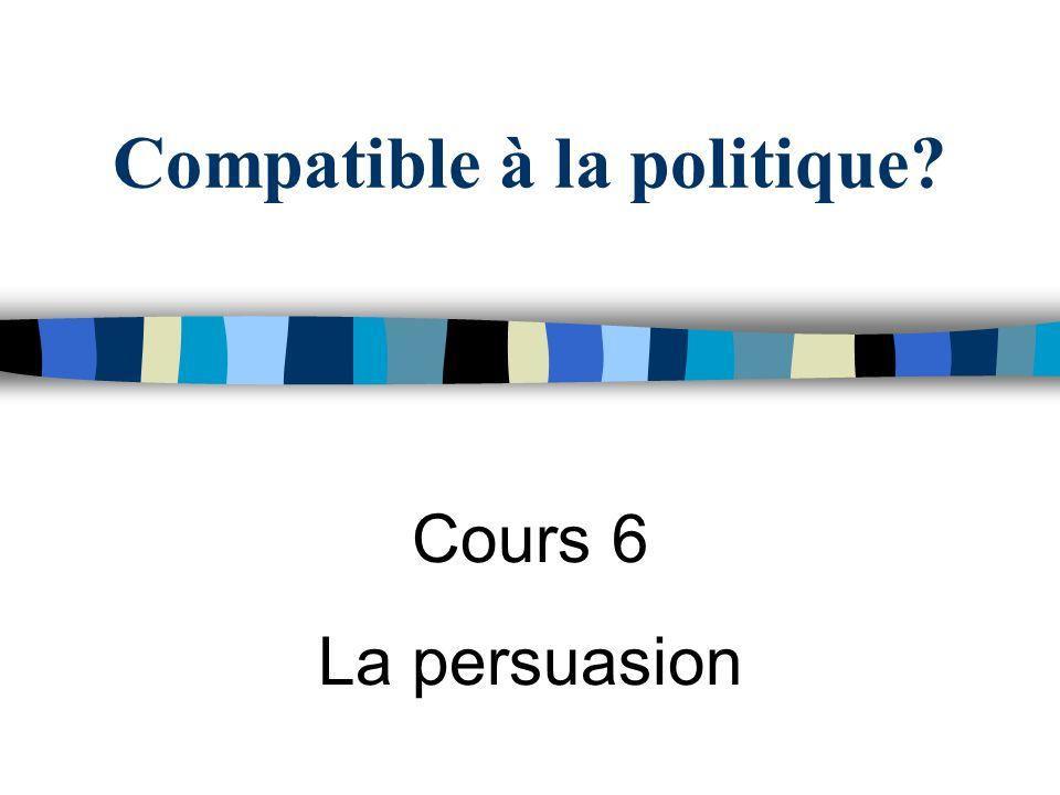 Compatible à la politique? Cours 6 La persuasion