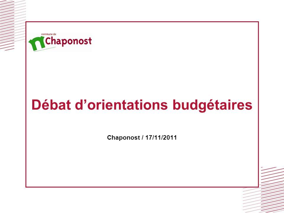 Débat dorientations budgétaires Chaponost / 17/11/2011