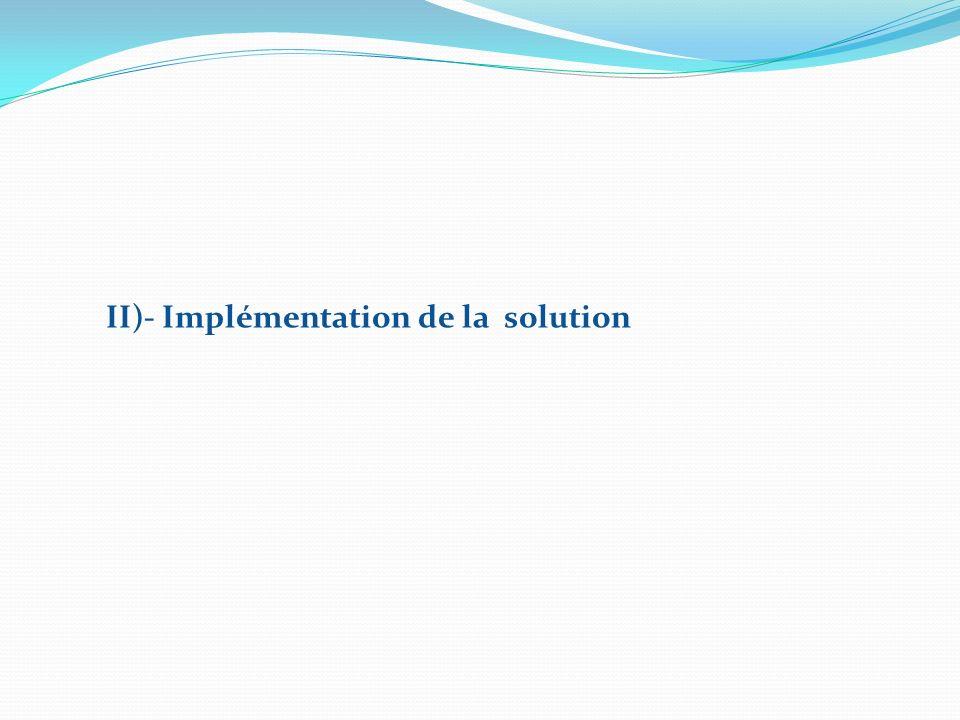 II)- Implémentation de la solution