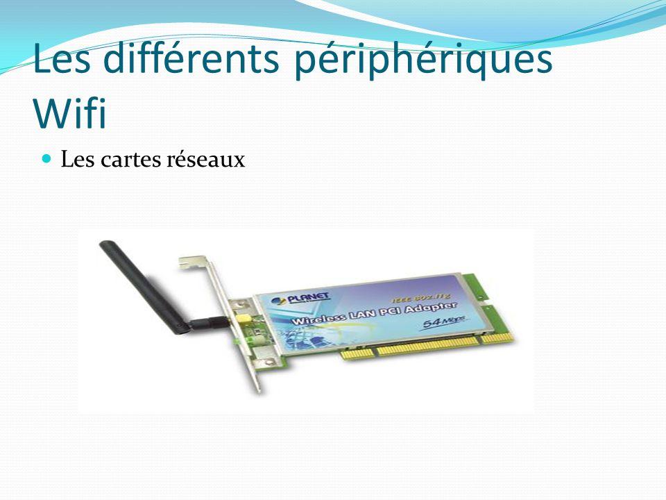 Les cartes réseaux Les différents périphériques Wifi