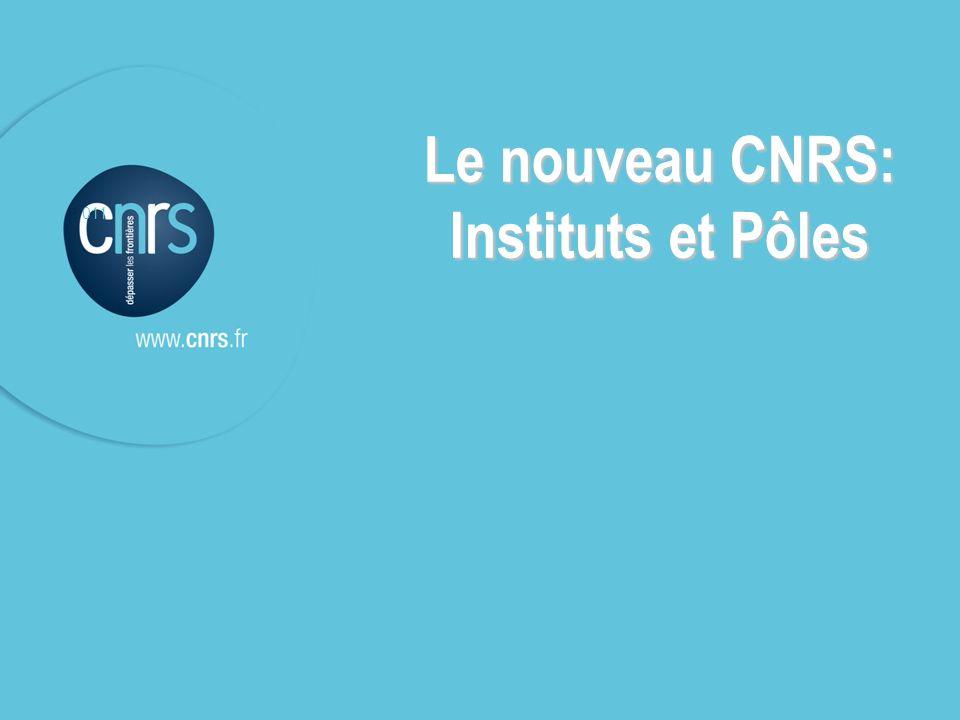P. 011 11 P. 011 Le nouveau CNRS: Instituts et Pôles