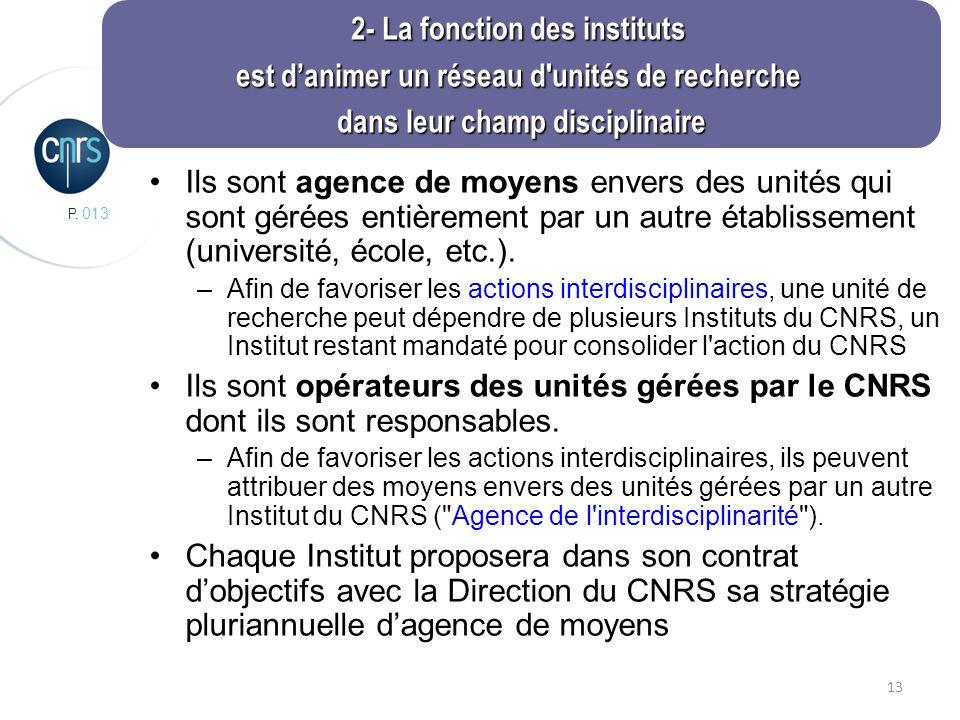 P. 013 13 Ils sont agence de moyens envers des unités qui sont gérées entièrement par un autre établissement (université, école, etc.). –Afin de favor