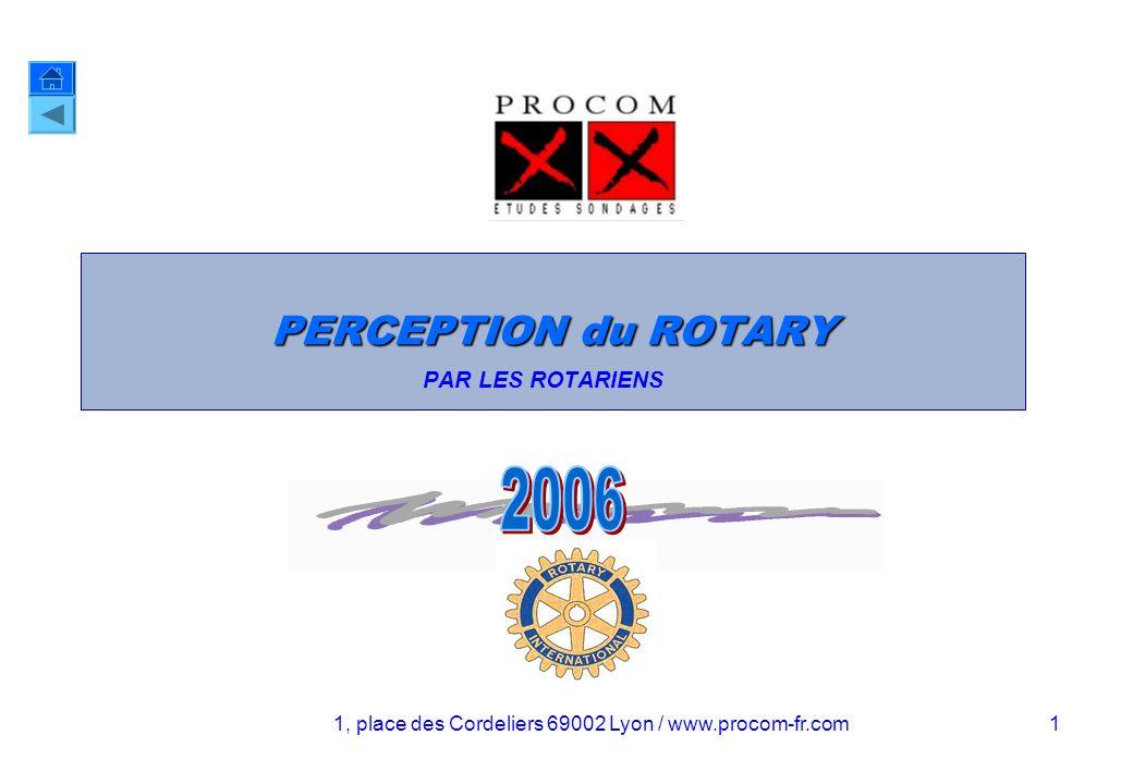 PERCEPTION DU ROTARY AUPRÈS DES ROTARIENS JUIN 2006 11 Laction et l organisation actuelle du Rotary « Que pensez-vous de l action et de l organisation du Rotary .