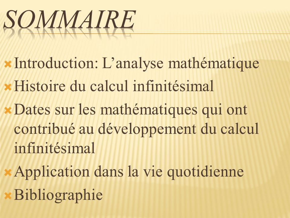 L invention de lanalyse mathématique - le résultat des recherches antérieures sur des problèmes apparemment disparats, mais ayant une unité cachée.