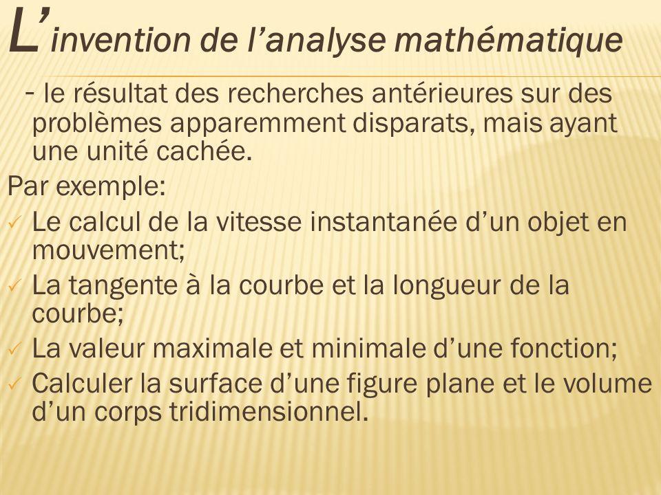 À quoi nous aide lanalyse mathématique .