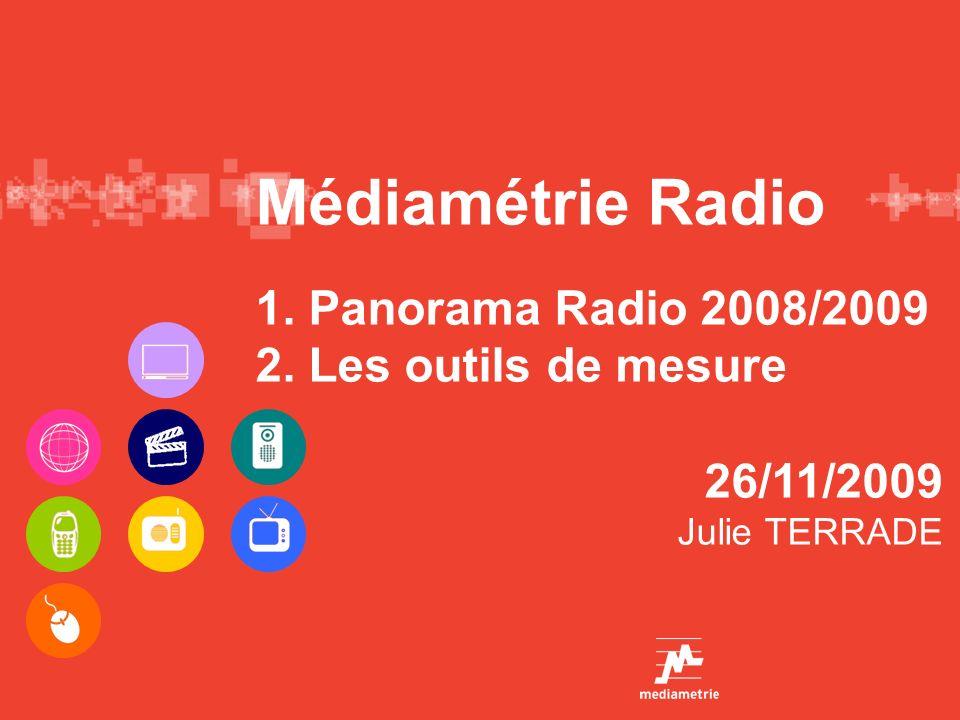 Médiamétrie Radio 1. Panorama Radio 2008/2009 2. Les outils de mesure 26/11/2009 Julie TERRADE