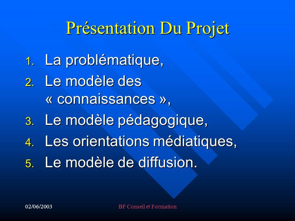02/06/2003BF Conseil et Formation Présentation Du Projet 1.