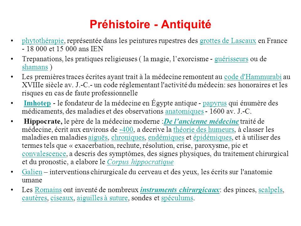 Préhistoire - Antiquité phytothérapie, représentée dans les peintures rupestres des grottes de Lascaux en France - 18 000 et 15 000 ans IENphytothérap