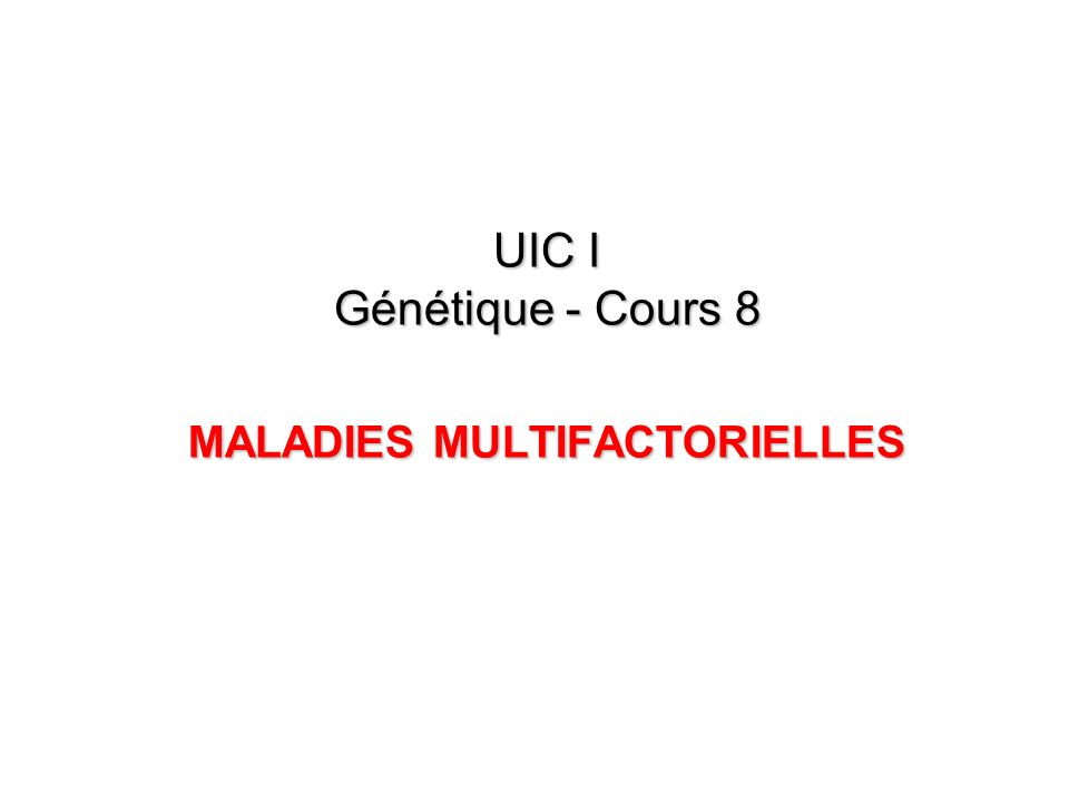 1/ Malformations congénitales (MC) MC = AC produites par un procéssus primaire, intrinsèque et précoce de morphogénèse anormale.
