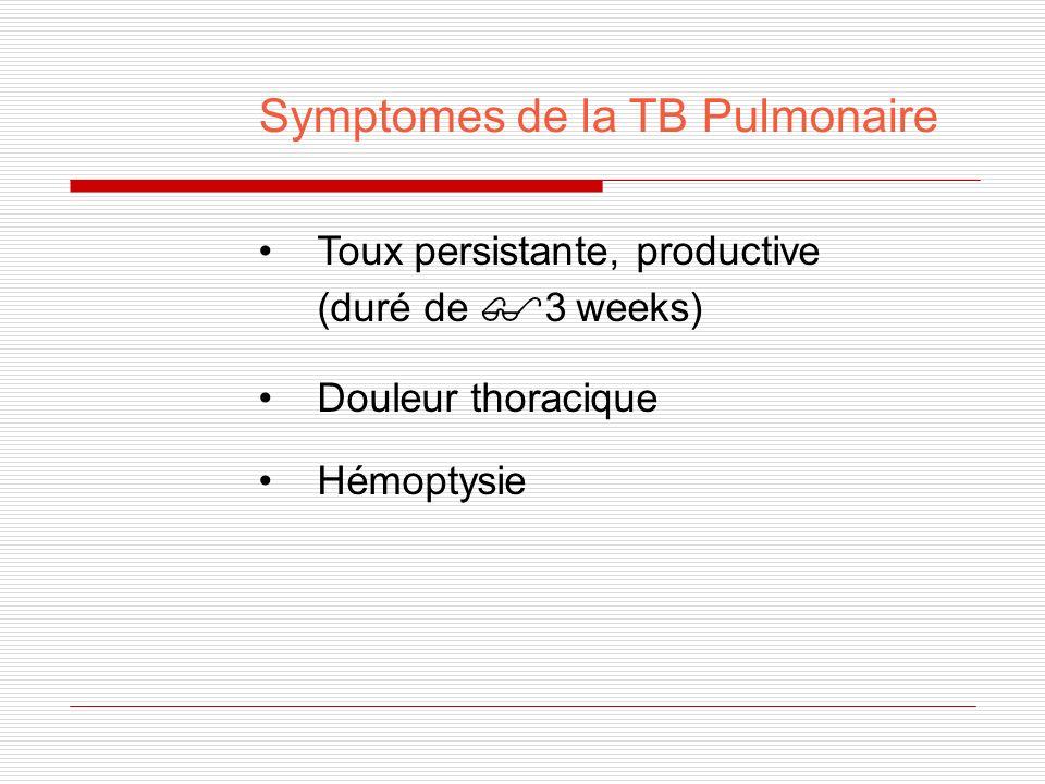 Symptomes sistemiques de la TB Fievre Frisson Transpiration Manque dappetit Perte de poids Fatigue
