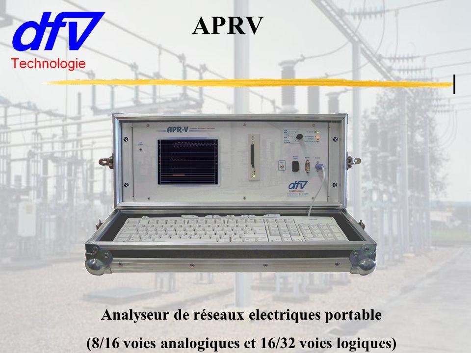 APRV Analyseur de réseaux electriques portable (8/16 voies analogiques et 16/32 voies logiques)
