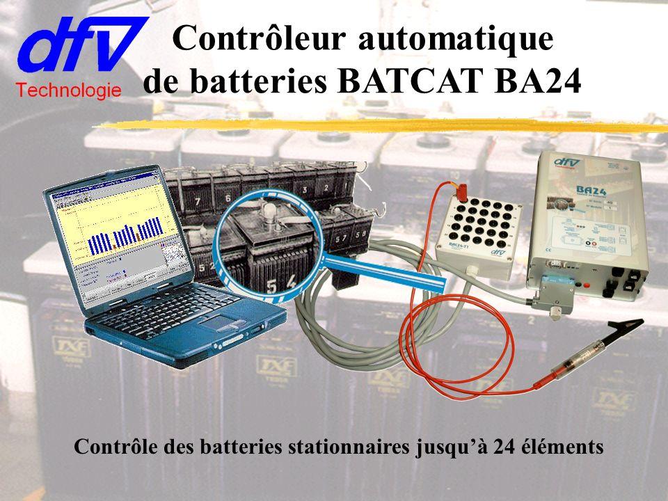 Contrôleur automatique de batteries BATCAT BA24 Contrôle des batteries stationnaires jusquà 24 éléments