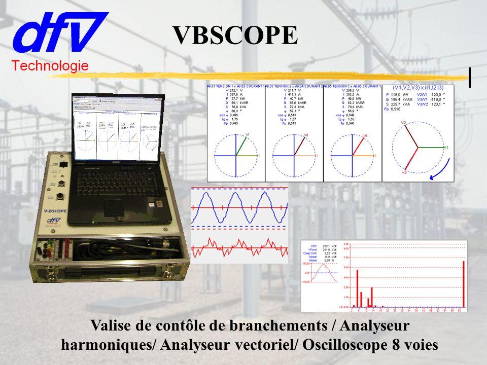 VBSCOPE Valise de contôle de branchements / Analyseur harmoniques/ Analyseur vectoriel/ Oscilloscope 8 voies