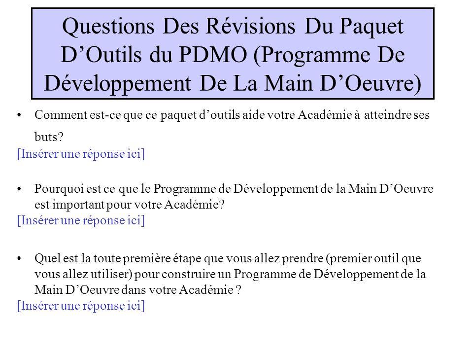 Révision De LEssaie Du Paquet DOutils TESTING Quand vous avez présentés cet outil/ évènement aux membres de votre académie, comment ont-ils réagis .
