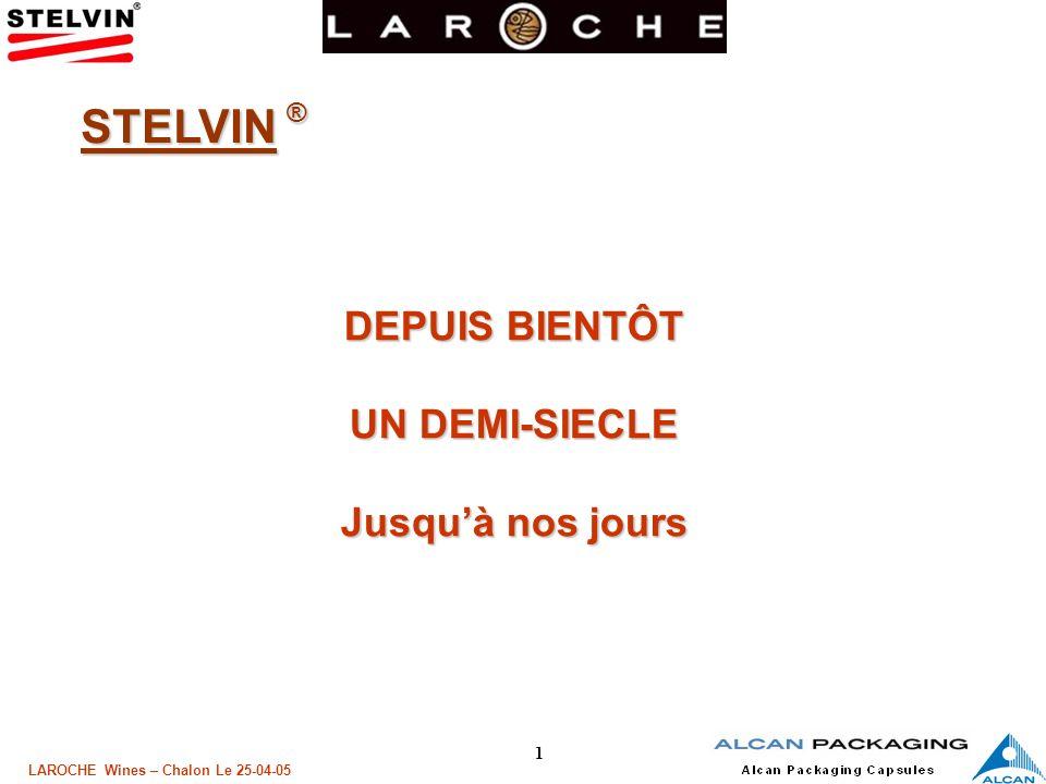 22 LAROCHE Wines – Chalon Le 25-04-05 Technique LA PERMEABILITE à LOXYGENE: Le PE 5 000 à 10 000 cc/m²/j Le PET 100 à 200 cc/m²/j Le PVDC 10 à 60 cc/m²/j LAlu & le Sn ~ 0 cc/m²/j NOTA : Mesures réalisées à partir de « Facings » avant assemblage sur Âme.