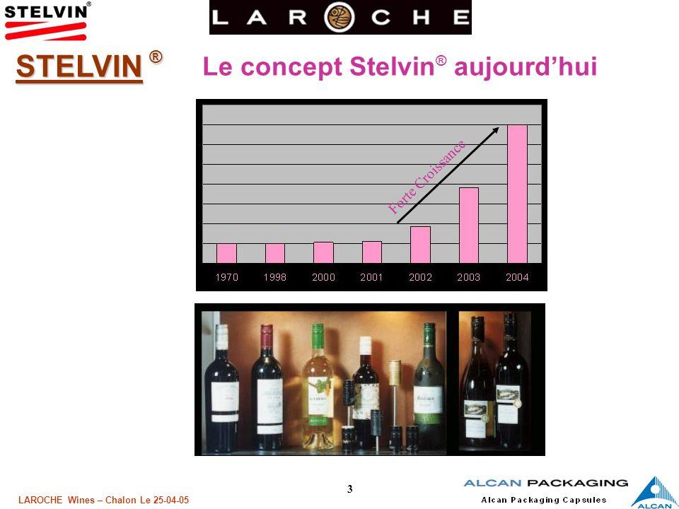 4 LAROCHE Wines – Chalon Le 25-04-05 STELVIN ® La capsule STELVIN ® aujourdhui : Sur tous les continents