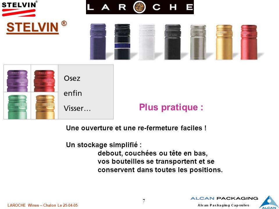18 LAROCHE Wines – Chalon Le 25-04-05 Le Rôle du joint LETANCHEITE 1 - Hydraulique ou liquide liquide (évite les fuites du contenu) 2 - Gazeuse Gazeuse (conservation des gaz et arômes) Technique