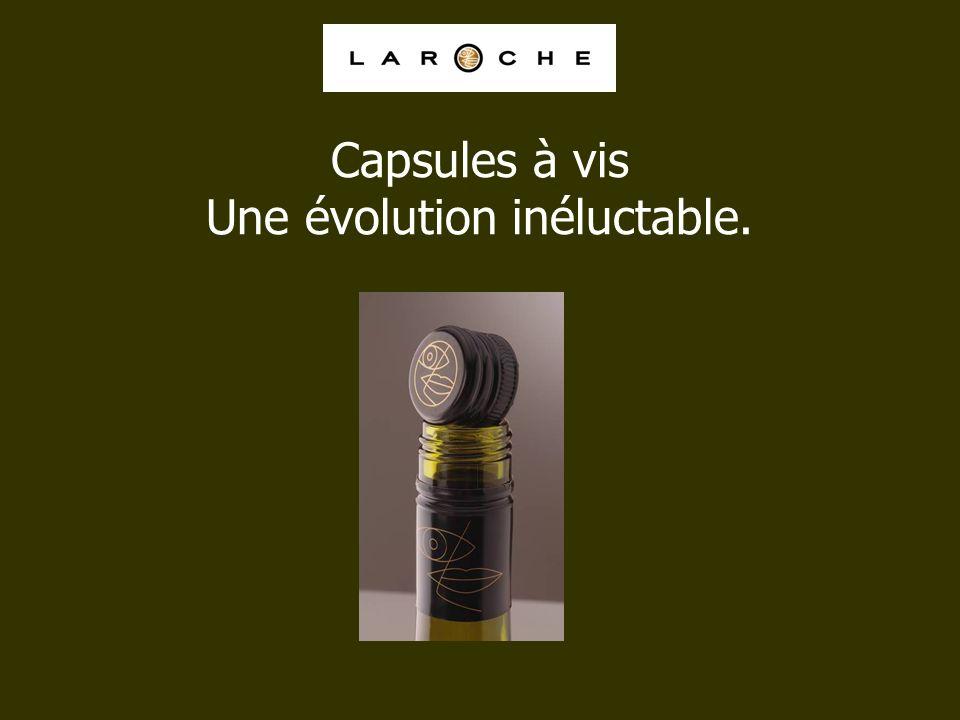 Capsules à vis Une évolution inéluctable.