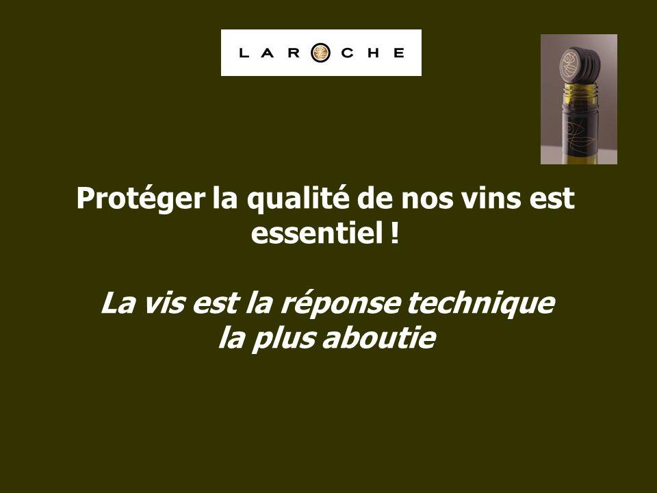 Protéger la qualité de nos vins est essentiel ! La vis est la réponse technique la plus aboutie