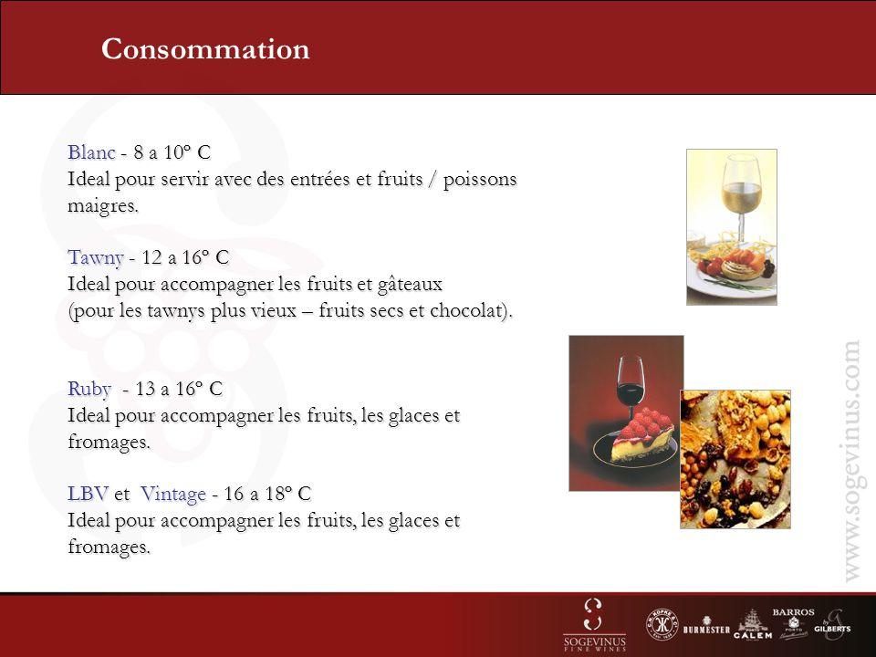 Blanc - 8 a 10º C Ideal pour servir avec des entrées et fruits / poissons maigres.