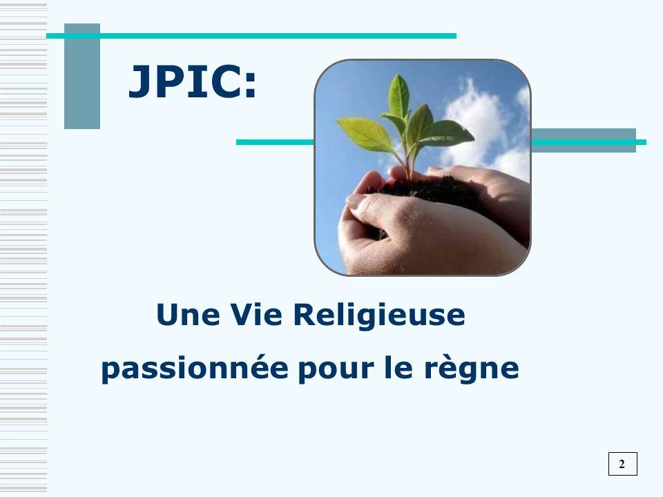 Une Vie Religieuse passionnée pour le règne JPIC: 2