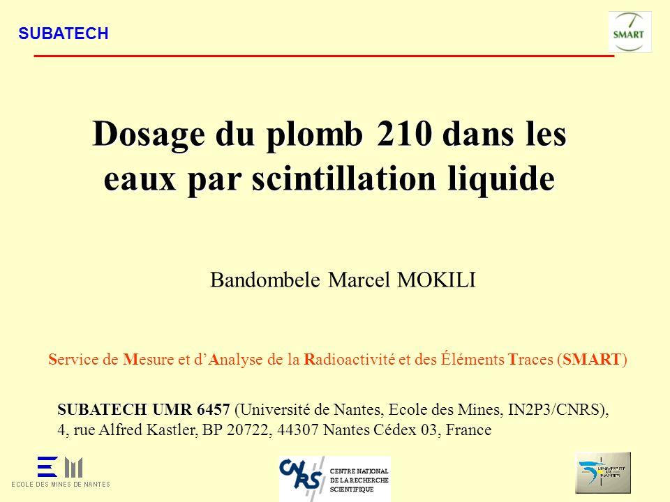 SUBATECH SUBATECH UMR 6457 SUBATECH UMR 6457 (Université de Nantes, Ecole des Mines, IN2P3/CNRS), 4, rue Alfred Kastler, BP 20722, 44307 Nantes Cédex